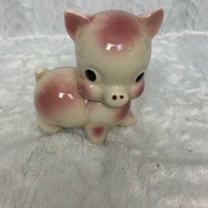 Vintage Pig Figurine Ceramic Rempel Pottery  4″ Pi